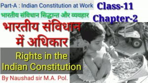संविधान में अधिकार Rights in the Indian Constitution