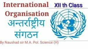 अंतरराष्ट्रीय संगठन International Organisation