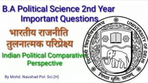 B.A. 2nd Year Important Question-2019