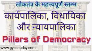 लोकतंत्र के महत्वपूर्ण स्तम्भ
