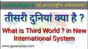 तीसरी दुनिया क्या है ? नई अंतरराष्ट्रीय अर्थव्यवस्था