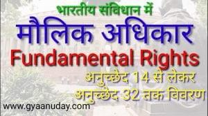 संविधान में मौलिक अधिकार
